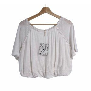 Free people double trouble bubble white crop top